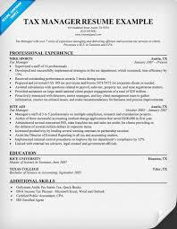 Enrolled Agent Resume Sample by Tax Manager Resume Other Pinterest