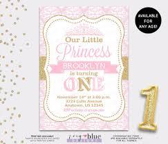 princess birthday invitation princess invitation first birthday