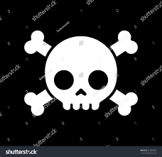 simple cartoon skull crossbones icon on stock vector 316089359