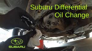 subaru rear differential oil change youtube