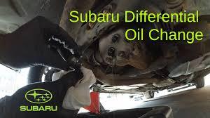 subaru rear differential oil change youtube