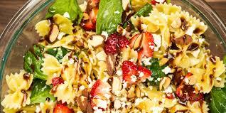 Pasta Salad Ingredients Best Strawberry Balsamic Pasta Salad How To Make Strawberry