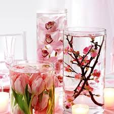 Pink Flower Table Decorations