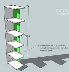 Free Wooden Bookcase Plans by Ana White Puzzle Bookcase Diy Projects