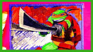 teenage mutant ninja turtles coloring pages 04 youtube