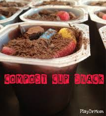 grossest halloween food compost cup snack composting snacks and cups