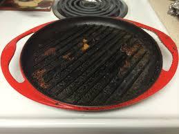 equipment how do i clean my cast iron grill pan seasoned advice