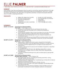 Sample Resume For Customer Service Representative Telecommunications by Download Customer Service Representative Resume Sample