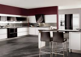 Built In Kitchen Cabinets Witching White Color High Gloss Kitchen Cabinets Features Built In