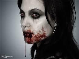 Halloween Vampire Look Angelina Jolie Worth1000 Contests Macabre Pinterest