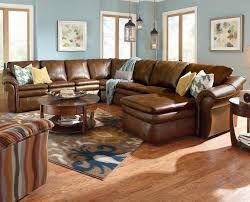 Lazy Boy Furniture Outlet 5 Piece Sectional With Las Chaise And 2 Recliners By La Z Boy