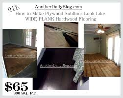 another daily blog diy how to make plywood subfloor look like