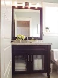 Tiny Powder Room Ideas Cool Grey Wood Grain Tiles Wall Accent Small Powder Room Designs