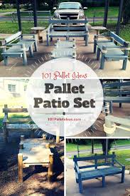Pallets Patio Furniture - pallet patio set inspired your outdoor