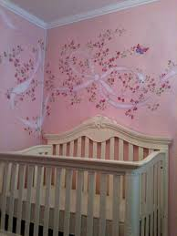 Baby Room Wall Murals by Nursery Mural With Roses And Butterflies Projects To Try