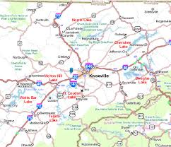 Neyland Stadium Map Lakes In East Tennessee Map For Knoxville Tennessee And East