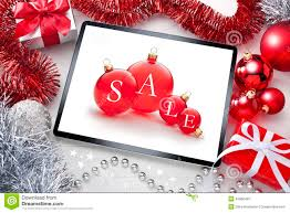 tablet sale christmas background stock photo image 45660445