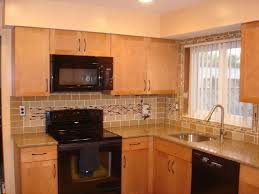 dark brown wooden cabinet remodeled backsplash ideas diy kitchen