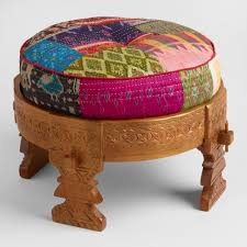 Vanity Stools With Wheels Benches And Ottomans Storage Tufted U0026 Uphostered World Market
