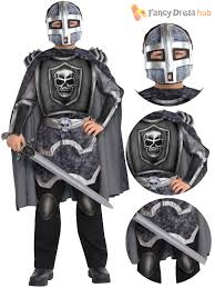 Kids Skeleton Halloween Costumes Boys Skeleton Knight Costume Halloween Fancy Dress Medieval Knight