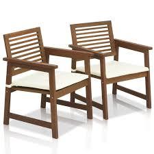 Outdoor Furniture Teak Sale by Langley Street Arianna Teak Hardwood Outdoor Chair With Cushion