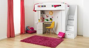 Bunkbeds With Desk With Hand Print Fun Kids Furniture Bunk Beds - Kids bunk bed with desk