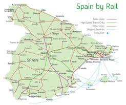 Madrid Spain Map by Spain Train Tickets