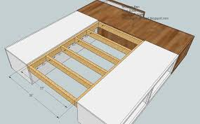 king size platform bed plans with drawers fpudining