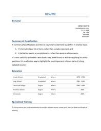 Summary Of Qualifications Sample Resume by 13 Student Resume Examples High And College
