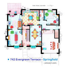 an artist recreated the floor plans for these 9 tv homes and the