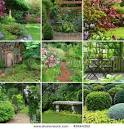 Collage Picture of Nine Beautiful Gardens in a Stock Photo picturesof.net