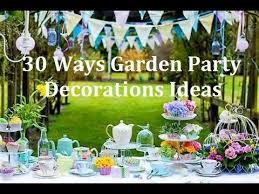 30 ways garden party design decorations ideas youtube