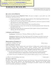 Sample Rn Resume 1 Year Experience by Icu Rn Resume Examples Http Www Jobresume Website Icu Rn