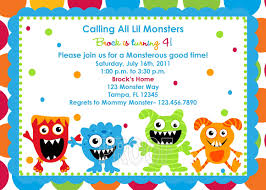 Create Birthday Invitation Card Online Monster Birthday Party Invitations Theruntime Com
