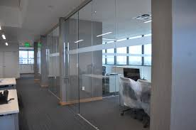 Interior Frameless Glass Door by Frameless Glass Office Fronts With Walls Protruding Nfcu
