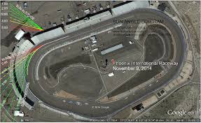 Phoenix International Raceway Map by Sunposition Com Nascar Track Sun Angle Diagram