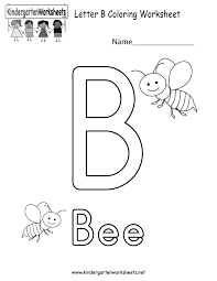 letter b coloring worksheet free kindergarten english worksheet