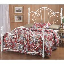 cherie iron bed in ivory humble abode