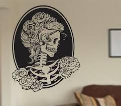 halloween wall art 30 skull and skeleton halloween decorations