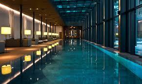 In Door Pool by Luxury Swiss Hotel The Chedi Andermatt Hotel Ski Resort
