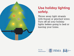 holiday candle and christmas tree fire safety outreach materials