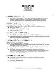 Resume Examples Resume Example Career Objective For Assistant
