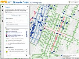 Zip Code Map Brooklyn by There U0027s A New Interactive Map That Shows You Every Sidewalk Cafe
