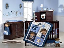 creative drawing blue paint wall for babu boy room themes have
