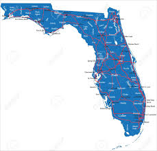 Map Of Clearwater Florida Florida Map Royalty Free Cliparts Vectors And Stock Illustration