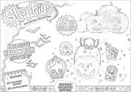 shopkins halloween coloring pages printable