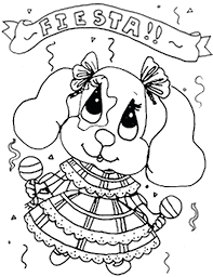 mexican coloring pages coloringsuite com