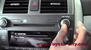2011 toyota corolla bluetooth setup how to by toyota city