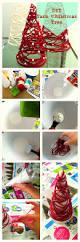 Diy Mini Christmas Trees Pinterest How To Make A Mini Christmas Tree With Yarn Craft Inspiration