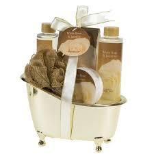 spicy warm vanilla spa bath body bamboo gift basket basketsoffun
